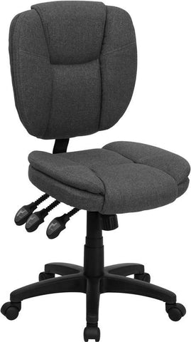 Mid-Back Gray Fabric Multi-Functional Ergonomic Task Chair GO-930F-GY-GG by Flash Furniture - Peazz Furniture
