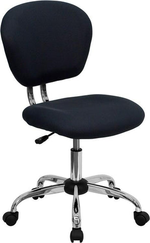 Mid-Back Gray Mesh Task Chair with Chrome Base H-2376-F-GY-GG by Flash Furniture - Peazz Furniture