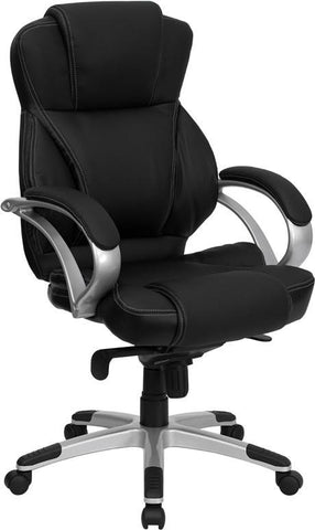 High Back Black Leather Contemporary Office Chair H-9626L-2-GG by Flash Furniture - Peazz Furniture
