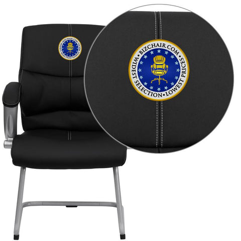 Marvelous Flash Furniture H 9637L 3 Side Emb Gg Embroidered Black Leather Executive Side Chair Pdpeps Interior Chair Design Pdpepsorg