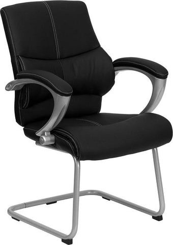 Black Leather Executive Side Chair H-9637L-3-SIDE-GG by Flash Furniture - Peazz Furniture
