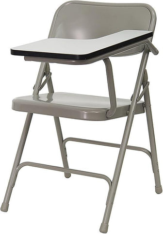 Premium Steel Folding Chair with Left Handed Tablet Arm HF-309AST-LFT-GG by Flash Furniture - Peazz Furniture
