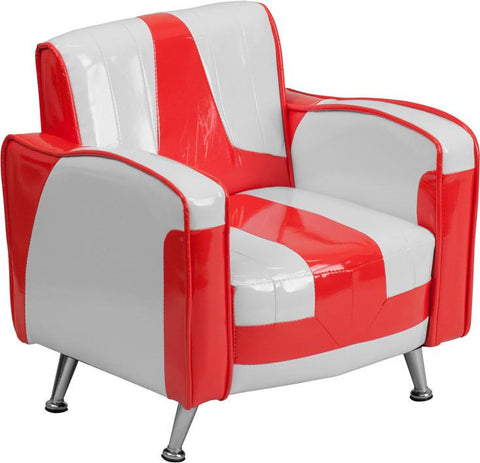 Flash Furniture HR-36-GG Kids Red and White Chair - Peazz Furniture