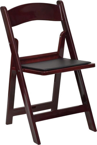Excellent Hercules Series 1000 Lb Capacity Mahogany Resin Folding Chair With Black Vinyl Padded Seat Le L 1 Mah Gg By Flash Furniture Ocoug Best Dining Table And Chair Ideas Images Ocougorg