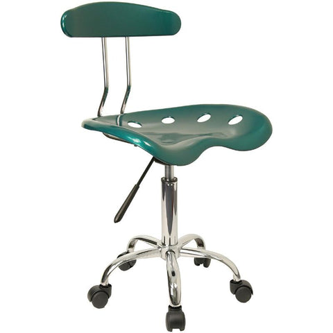 Vibrant Green and Chrome Computer Task Chair with Tractor Seat LF-214-GREEN-GG by Flash Furniture - Peazz Furniture