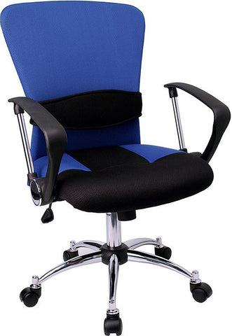 Mid-Back Blue Mesh Office Chair LF-W23-BLUE-GG by Flash Furniture - Peazz Furniture
