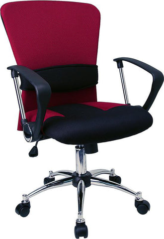 Mid-Back Burgundy Mesh Office Chair LF-W23-RED-GG by Flash Furniture - Peazz Furniture