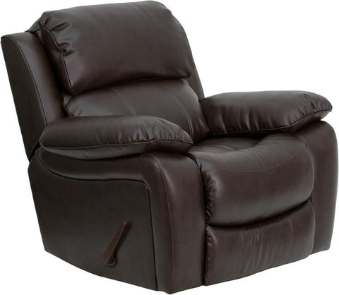 Brown Leather Rocker Recliner MEN-DA3439-91-BRN-GG by Flash Furniture - Peazz Furniture