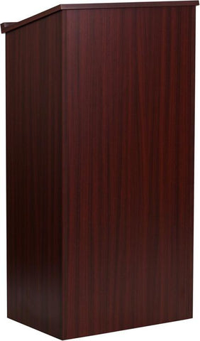 Mahogany Stand-Up Lectern MT-M8830-LECT-MAH-GG by Flash Furniture - Peazz Furniture