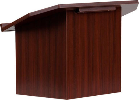 Flash Furniture MT-M8833-LECT-GG Foldable Mahogany Tabletop Lectern - Peazz Furniture