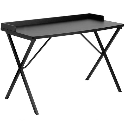 Flash Furniture NAN-2140-BK-GG Black Computer Desk - Peazz Furniture