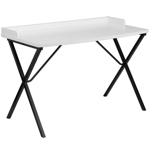Flash Furniture NAN-2140-WH-GG White Computer Desk - Peazz Furniture