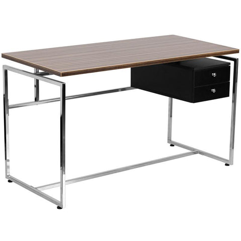 Flash Furniture NAN-JN-2120-GG Computer Desk with Two Drawer Pedestal - Peazz Furniture
