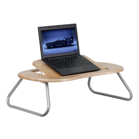 Angle Adjustable Laptop Computer Table with Dark Natural Top NAN-JN-2779-GG by Flash Furniture - Peazz Furniture