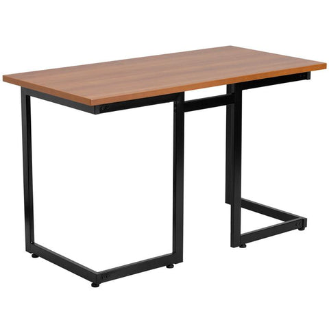 Flash Furniture NAN-JN-2811-GG Cherry Computer Desk with Black Frame - Peazz Furniture