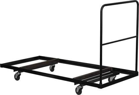 Black Steel Folding Table Dolly for 30x72 Rectangular Folding Tables NG-DY3072-GG by Flash Furniture - Peazz Furniture