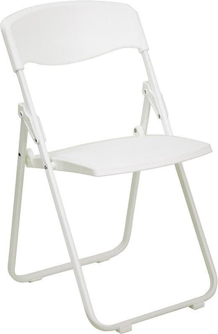 HERCULES Series 880 lb. Capacity Heavy Duty White Plastic Folding Chair RUT-I-WHITE-GG by Flash Furniture - Peazz Furniture