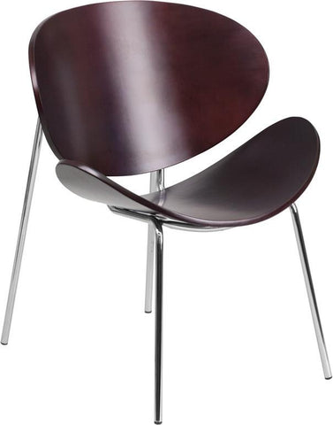 Flash Furniture SD-2268-7-MAH-GG Mahogany Bentwood Leisure Reception Chair - Peazz Furniture