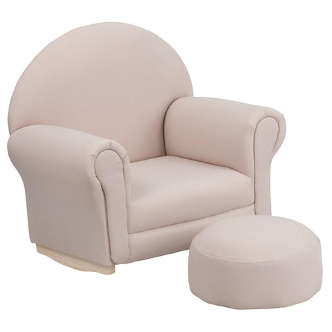 Flash Furniture SF-03-OTTO-BGE-GG Kids Beige Fabric Rocker Chair and Footrest - Peazz Furniture