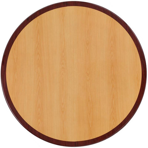 Flash Furniture TP-2TONE-36RD-GG 36'' Round Two-Tone Resin Cherry and Mahogany Table Top - Peazz Furniture
