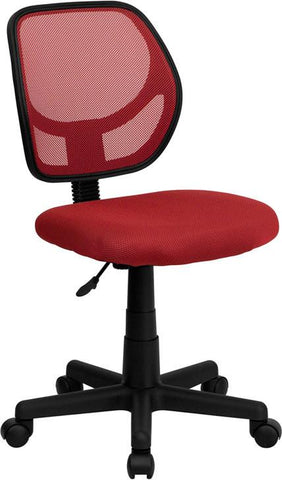 Mid-Back Red Mesh Task Chair and Computer Chair WA-3074-RD-GG by Flash Furniture - Peazz Furniture
