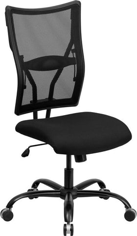 Flash Furniture WL-5029SYG-GG HERCULES Series 400 lb. Capacity Big & Tall Black Mesh Office Chair - Peazz Furniture