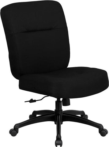 HERCULES Series 400 lb. Capacity Big & Tall Black Fabric Office Chair with Arms and Extra WIDE Seat WL-723ATG-BK-GG by Flash Furniture - Peazz Furniture