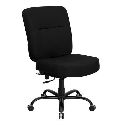 HERCULES Series 400 lb. Capacity Big & Tall Black Fabric Office Chair with Extra WIDE Seat WL-735SYG-BK-GG by Flash Furniture - Peazz Furniture
