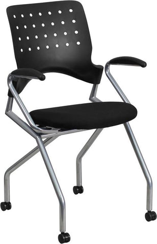 Flash Furniture WL-A224V-A-GG Galaxy Mobile Nesting Chair with Arms and Black Fabric Seat - Peazz Furniture