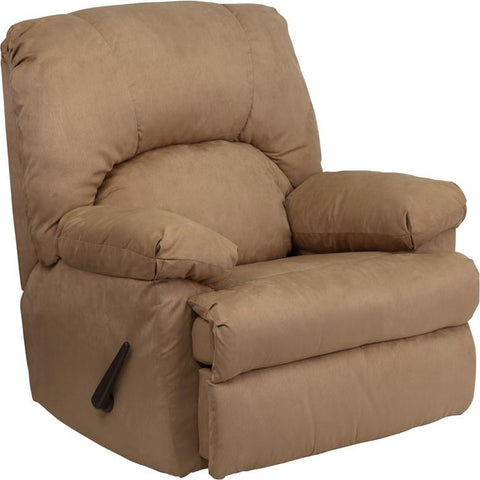 Contemporary Montana Latte Microfiber Suede Rocker Recliner WM-8500-264-GG by Flash Furniture - Peazz Furniture