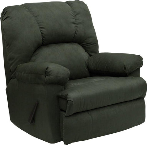 Contemporary Montana Loden Microfiber Suede Rocker Recliner WM-8500-266-GG by Flash Furniture - Peazz Furniture