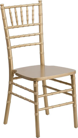 Flash Furniture XS-GOLD-GG Flash Elegance Gold Wood Chiavari Chair - Peazz Furniture