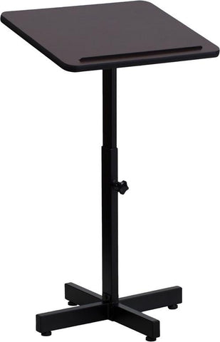 Adjustable Height Metal Lectern XU-LECTERN-ADJ-GG by Flash Furniture - Peazz Furniture