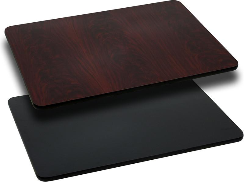 24 x 30 Rectangular Table Top with Black or Mahogany Reversible Laminate Top XU MBT 2430 GG by Flash Furniture