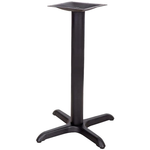 22'' x 22'' Restaurant Table X-Base with 3'' Table Height Column XU-T2222-GG by Flash Furniture - Peazz Furniture