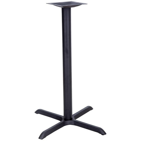 22'' x 30'' Restaurant Table X-Base with 3'' Bar Height Column XU-T2230-BAR-GG by Flash Furniture - Peazz Furniture