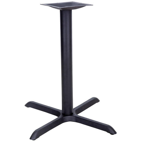 30'' x 30'' Restaurant Table X-Base with 3'' Table Height Column XU-T3030-GG by Flash Furniture - Peazz Furniture