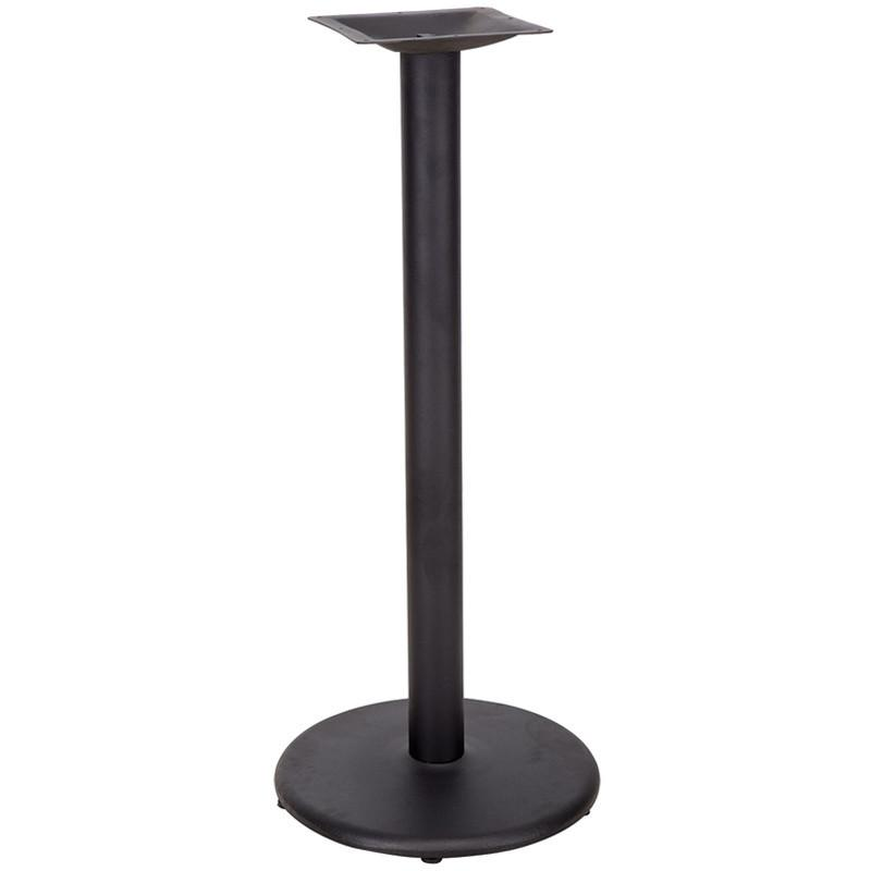 18 Round Restaurant Table Base with 3 Bar Height Column XU TR18 BAR GG by Flash Furniture