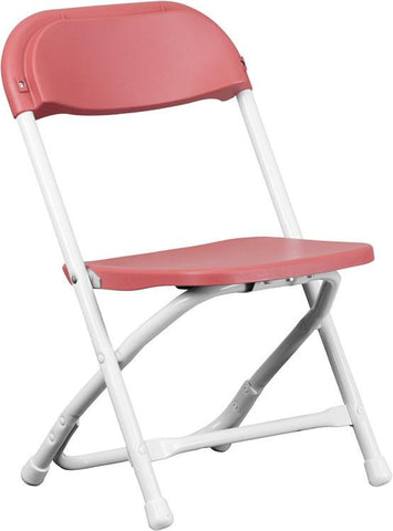 Flash Furniture Y-KID-BY-GG Kids Burgundy Plastic Folding Chair - Peazz Furniture