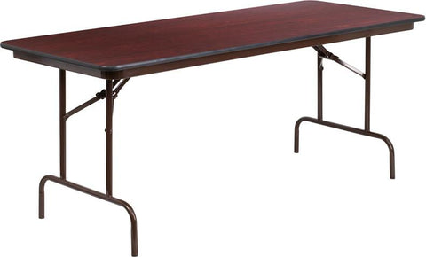 Flash Furniture Yt 3072 Mel Wal Gg 30 X 72 Rectangular Walnut Mela