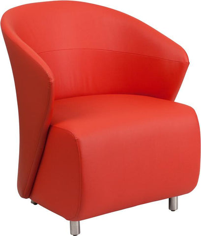 Flash Furniture ZB-6-GG Red Leather Reception Chair - Peazz Furniture