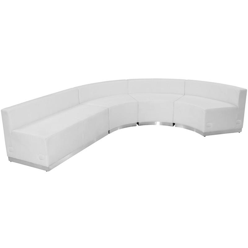 Alon Series White Leather Reception Configuration Pieces Hercules 432 Product Photo