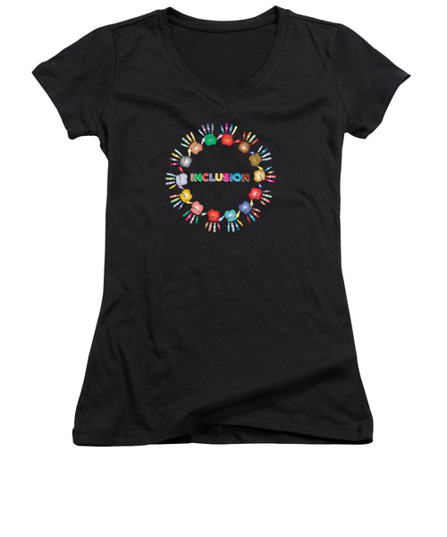 Inclusion - Women's V-Neck (Athletic Fit) - Thrive Any Way