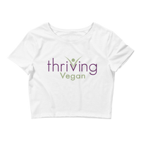 Thriving Vegan Women's Crop Tee - Thrive Any Way