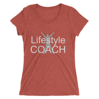 Lifestyle Coach with Man Silhouette - Ladies' short sleeve t-shirt - Thrive Any Way
