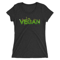 I am Vegan Ladies' short sleeve t-shirt - Thrive Any Way