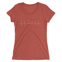 Cat Pulse (electrocardiogram) for those who adore their fur babies Ladies' short sleeve t-shirt - Thrive Any Way