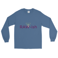 Kiss Me I'm Raw-ish Men's Long Sleeve T-Shirt - Thrive Any Way