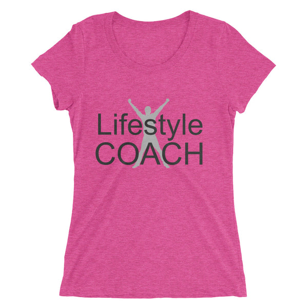 Lifestyle Coach w/ Man Ladies' short sleeve t-shirt - Thrive Any Way