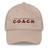 Mens and Womens Hat, How do you spell Success? 'C-O-A-C-H' - Thrive Any Way
